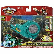 POWER RANGERS DINO CHARGE AMMONITE ZORD ACTION FIGURE WITH CHARGER ... RARE!!!