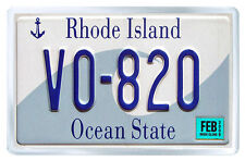 RHODE ISLAND USA LICENSE PLATE FRIDGE MAGNET SOUVENIR IMAN NEVERA