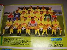 FOOTBALL COUPURE PRESSE PHOTO COULEUR 20x15 D2 GrA ORLEANS 1987/88