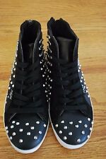 NEW - Sugar Orbic - Black Studded - High top Sneakers - Women's 7.5m