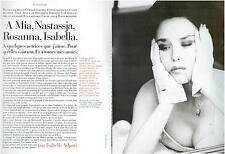 ▬► CLIPPING Isabelle ADJANI Photos Dominique Issermann 4 pages 1993