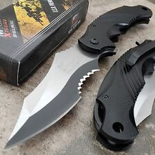 MTech Xtreme Ballistic Tactical Linerlock Folding Black Pocket Knife NEW!!