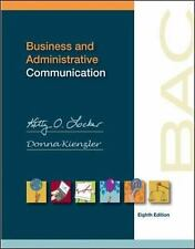 BUSINESS AND ADMINISTRATIVE COMMUNICATION 8th Edition Hardcover Locker Kienzler