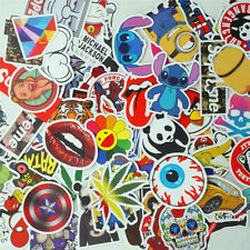 100X mix lot Skateboard Graffiti Laptop PC TABLET PAD Luggage Bike Car STICKERS