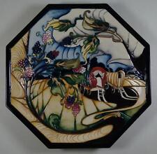 """MOORCROFT Evesham Romany Gypsies 10"""" Hexagonal Plate Queenie's Van RRP £560 (18)"""