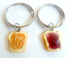Peanut Butter and Jelly Key Ring Set, BFF Best Friend's Keychains