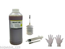 500ml Yellow refill ink kit for HP Lexmark Dell Canon Brother +2Glove