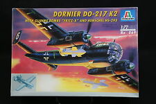 XX110 ITALERI 1/72 maquette avion 069 Dornier DO-217 K2 with Gliding Bombs Fritz