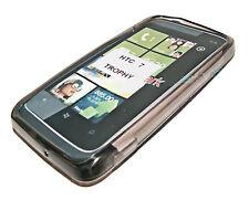 Silikon TPU Handy Cover Case Hülle Schale  Schutz in Smoke für HTC 7 Trophy