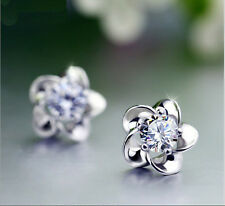 Women Fashion Jewelry Crystal Clear Crystal Zirconia Rhinestone Earrings