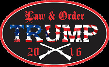 TRUMP SUPPORT STICKER LAW & ORDER DECAL WINDOW BUMPER