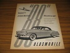 1950 Print Ad Oldsmobile 88 Holiday Coupe Rocket Hydra-Matic Olds