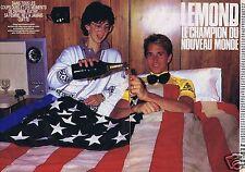 Coupure de presse Clipping 1986 Greg Lemond  (4 pages)