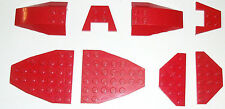 LEGO Red Specialty Plates Airplane Curved Bricks Cut Corner Wedge Star Wars lot
