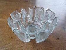 VINTAGE RAVENHEAD FLAIR Freeform Melting Ice Art Glass Bowl 8 section Design VGC
