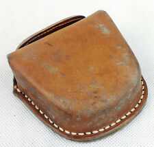 Surplus Chinese Military Army Leather Goggle Box Goggle Case Bag Pouch-D604