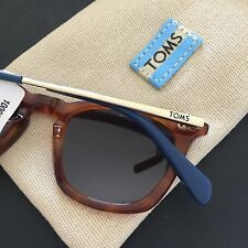 "TOMS Womens Maxwell Sunglasses Tortoise Wayfarer Tortoise Gold ""One for One"" NWT"