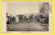 cpa MAROC Cachet CASABLANCA Postes aux Armées PARC aux CHAMEAUX timbre Colonie