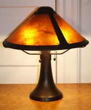 Genuine MICA LAMP CO. Large Trumpet Table Lamp. Arts & Crafts Mission Classic!