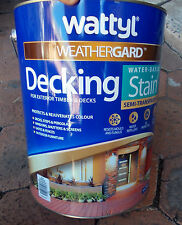 "WATTYL Weathergard DECKING STAIN in  ""JARRAH"" 10 Litre can Water Based"