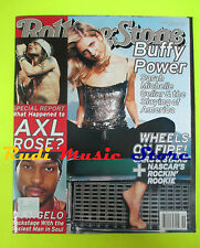 ROLLING STONE USA MAGAZINE 840/2000 Axl Rose Travis Pete Townsend D'Angelo No cd
