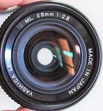 Yashica ML 28mm f/2.8 Contax mount with Filter made in Japan - EXCELLENT ++