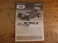 Kyosho Lazer Alpha Manual - Kyosho Lazer Alpha