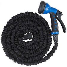 Latex 100 Ft Expandable Flexible Garden Water Hose with 8 Functions Spray Nozzle