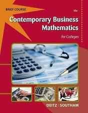 Contemporary Business Mathematics for Colleges, Brief (with Printed Access...