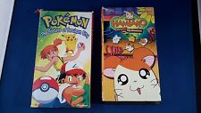 Pair of vintage VHS cartoons Pokemon and Hamtaro