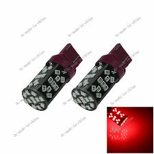 2X Red T20 7443 7440 ECE 48 SMD 2835 LED Brake Blub Turn Signal Light 12V G029