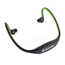 Bluetooth Wireless Headphone Headset Earphone Stereo with Mic Neckband-Green
