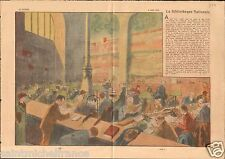 Salle Lecture Bibliothèque Nationale Richelieu à Paris France 1938 ILLUSTRATION