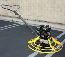 "Walk-behind Cement Power Trowel Concrete Machine w/6.5HP 196CC Gas Engine 37""Dia"
