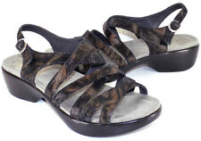 DANSKO Dani Coffee Swirl Strappy Sandals Women's 39 US Shoe Size 8.5 / 9M