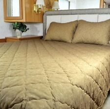 NEW RV Bedspread Camper Comforter Made to fit a Short Queen mattress 60x75 Taupe