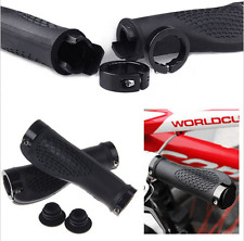 Grips Rubber Mountain Bike Bicycle Handlebar Ergonomic Cycling Lock On Ends TPR