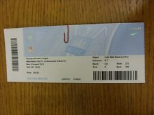 19/08/2013 Ticket: Manchester City v Newcastle United  . Thanks for viewing this