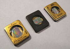 Lot of 3 Tiny Glass Window EPROMS Integrated Circuit CPU Chip gold top vintage