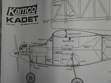 "Kamco Kadet Plan. Traditional build 56"" High Wing R/C Trainer"