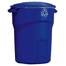 32 Gal Rubbermaid Commercial Recycling Bin Garbage Trash Can Waste Container NEW