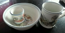 Denby Dream Weavers Childrens Mug cereal bowl and egg cup