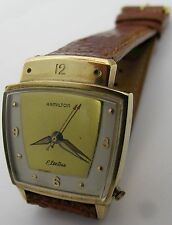 Hamilton electric 500 10k yellow gold filled, keep time ...
