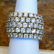NEDA BEHNAM SOHO 18K YG 4.50 CT DIAMOND 5-ROW FLEX RING RET $13,200 EXQUISITE!!!
