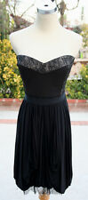 NWT BCBG  MAX AZRIA $378 Black Prom Dance Party Dress L