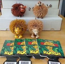 DISNEY THE LION KING KOOSH BALL CHARACTER FIGURE TOY SET OddzOn 1994 VINTAGE