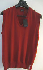 "Paul Smith ""PS"" V Neck SUPER SOFT Cotton Tank Top Size XL P2P 21.5"""