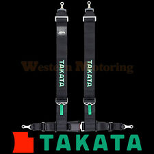 Takata Seat Belt Harness: Drift III 4-Point ASM - Black (Bolt-On) 70003US-0