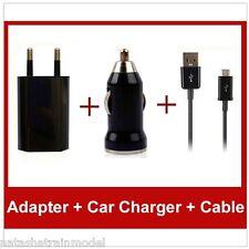 CAR CHARGER CARICA DA AUTO ( 12 e 24V ) e Casa 220V USB con cavo Micro USB 1A