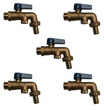 1/2 Inch Lever Outside Taps With Double Check Valves (DCV) | 5 Pack